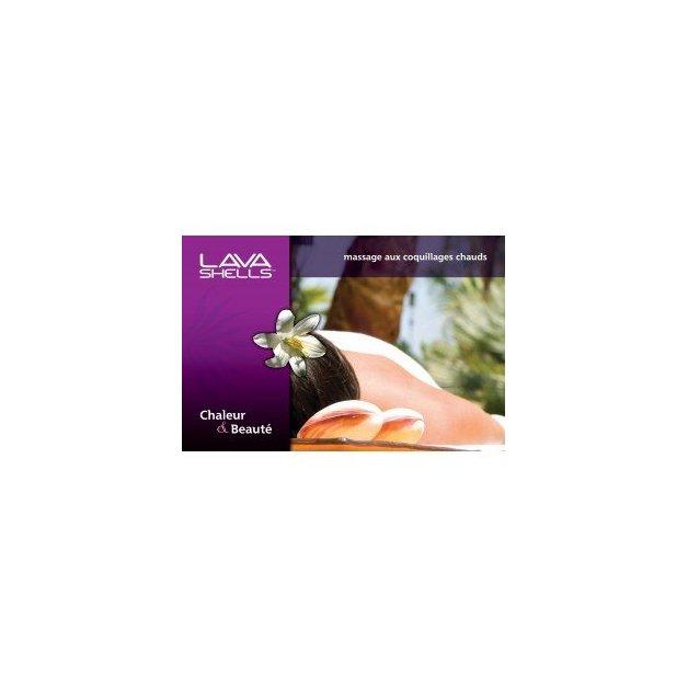 Affiche massage aux coquillages - Gros Plan