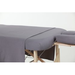 3 pieces Gray cotton sheet set