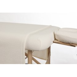 3 Pieces White Curly Fleece Sheet Set