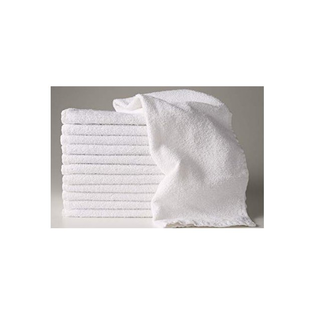 Serviettes ratine blanche 22''x44'' - Liquidation