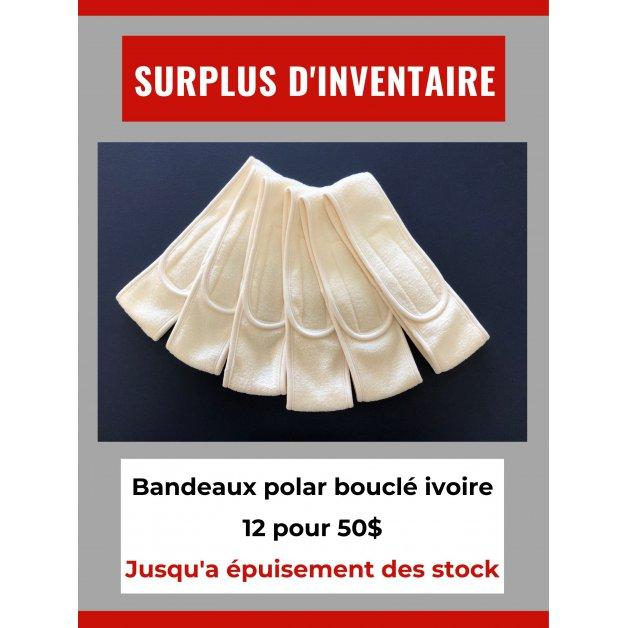 Surplus d'inventaire - Bandeaux polar bouclé ivoire
