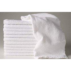 Serviettes ratine blanche 11''x22'' - Liquidation