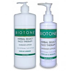 Herbal Select Face Therapy Massage Lotion Biotone Massage products