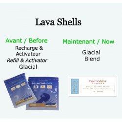 "Lava shell recharge ""Glacial Blend"" LavaShell Massage Shells"