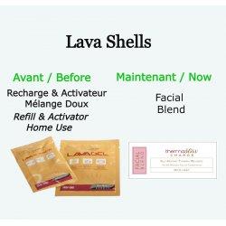 """Recharge pour coquillage chauds - """"Facial Blend"""" Mélange Doux LavaShell Coquillages de massage"""