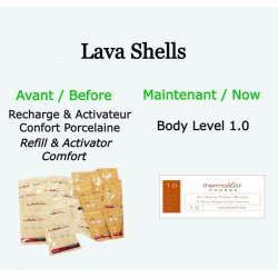 """Recharge """"Body Level"""" 1.0 LavaShell Coquillages de massage"""