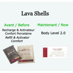 """Recharge pour coquillages chauds ''Body Level"""" 2.0 LavaShell Coquillages de massage"""