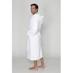 Men hooded bathrobe