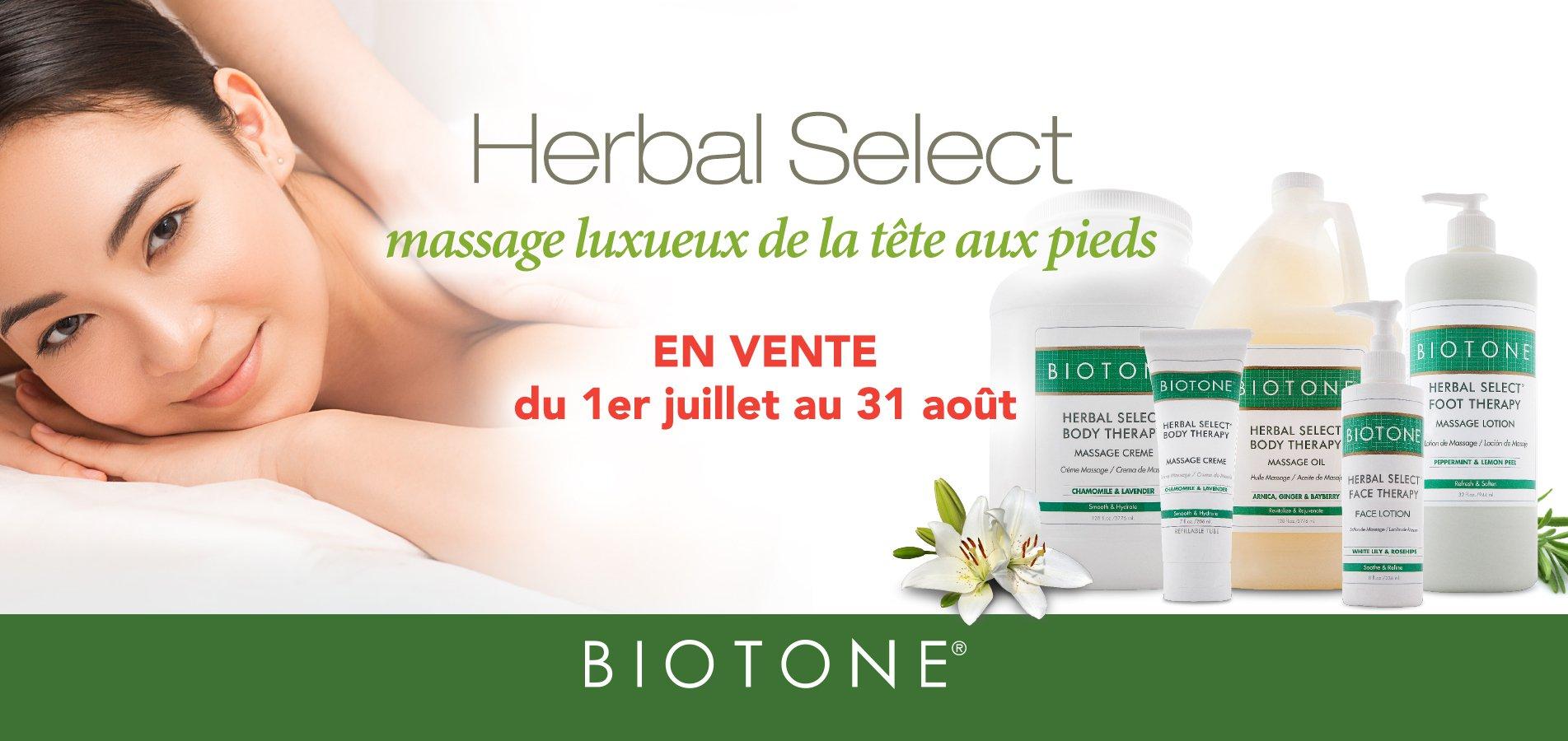 Promotion sur la gamme Herbal Select de Biotone!